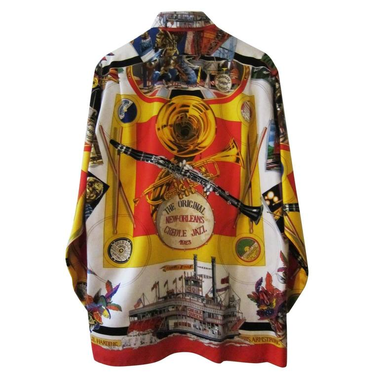 Hermes new orleans creole jazz silk shirt first edition for Shirt printing new orleans