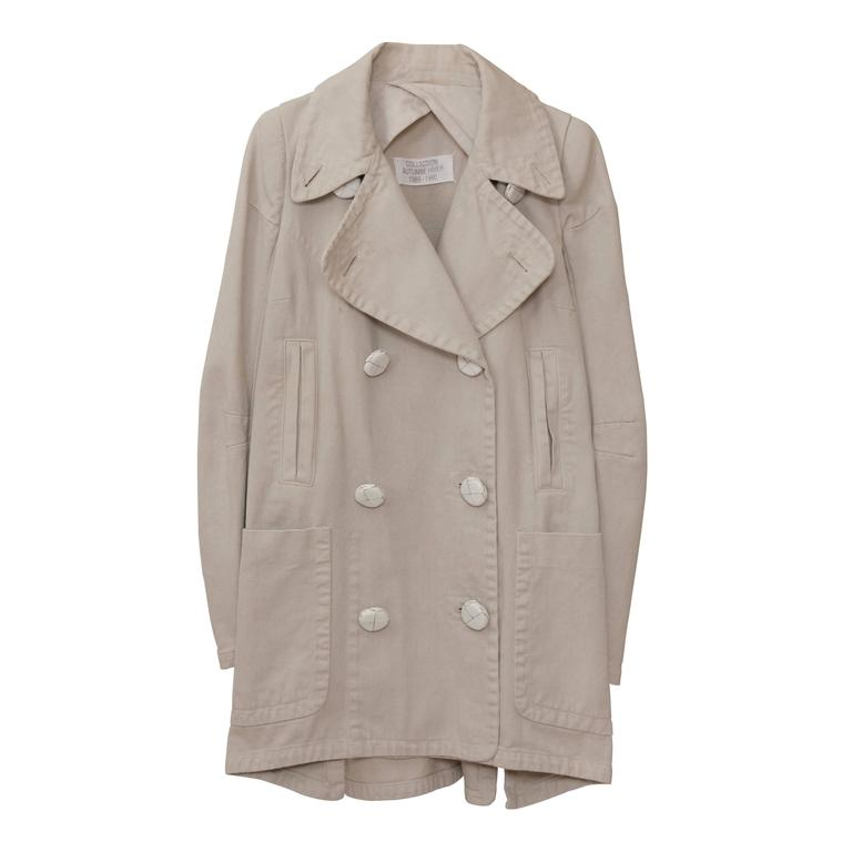 Martin Margiela Beige Cotton Jacket Coat Show Piece A/W1989