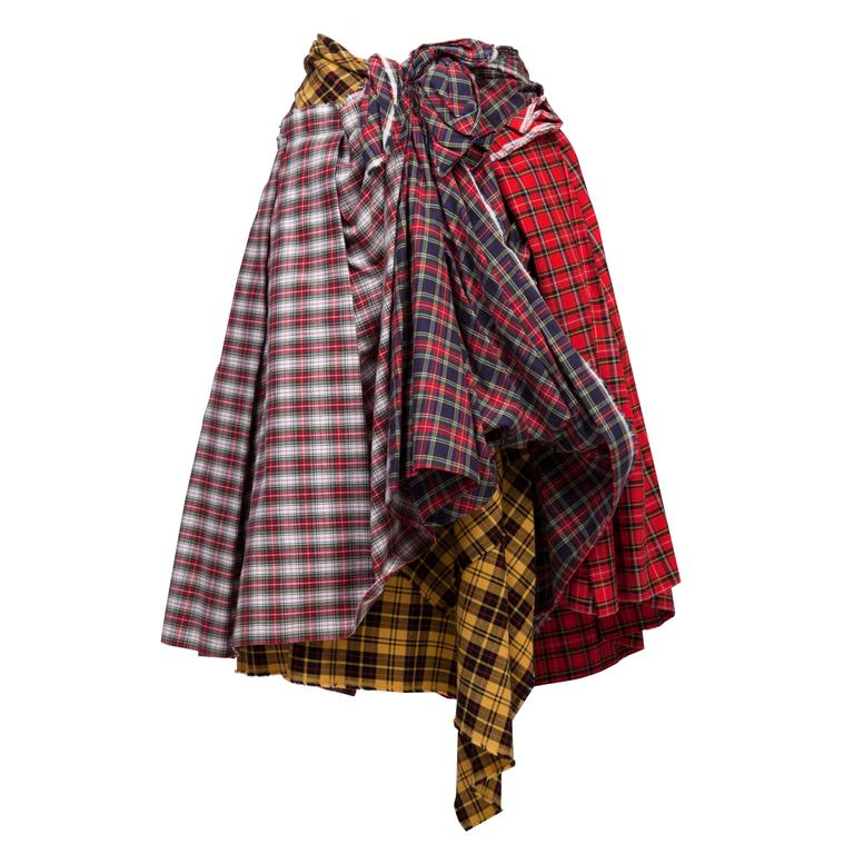 Comme des Garcons Plaid Skirt AD 2005 For Sale