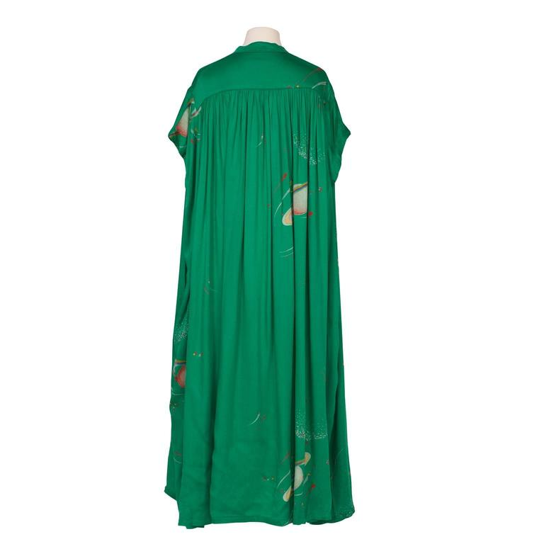 Chacok Paris Green Planet Dress 1970s 8