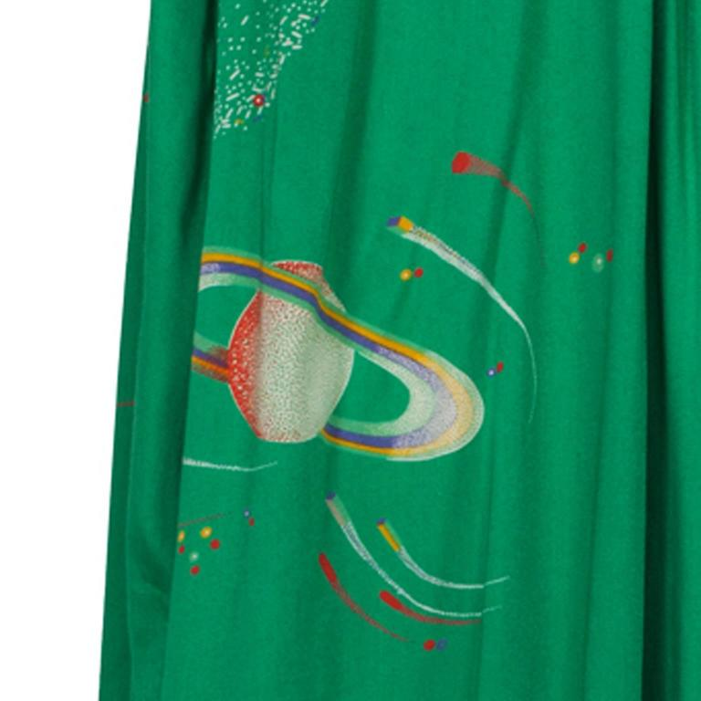 Chacok Paris Green Planet Dress 1970s 7