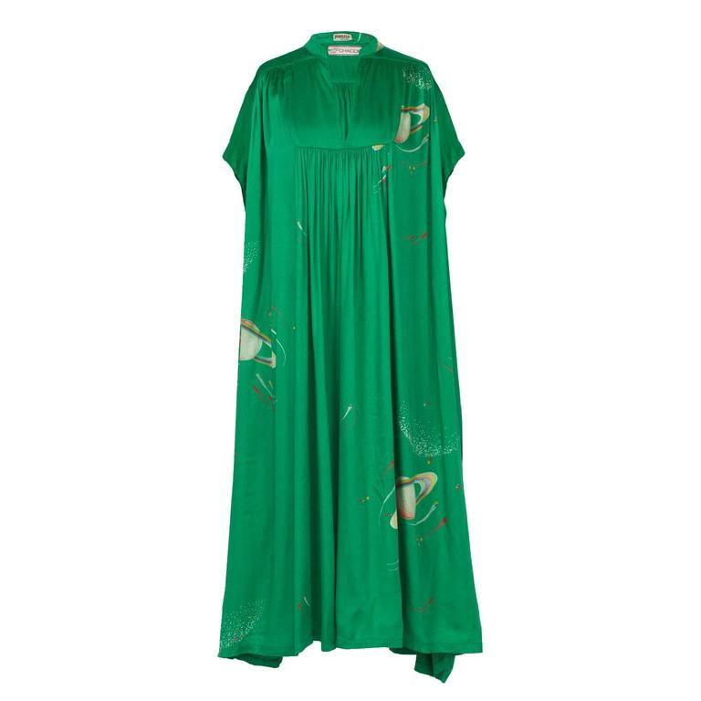 Chacok Paris Green Planet Dress 1970s 1