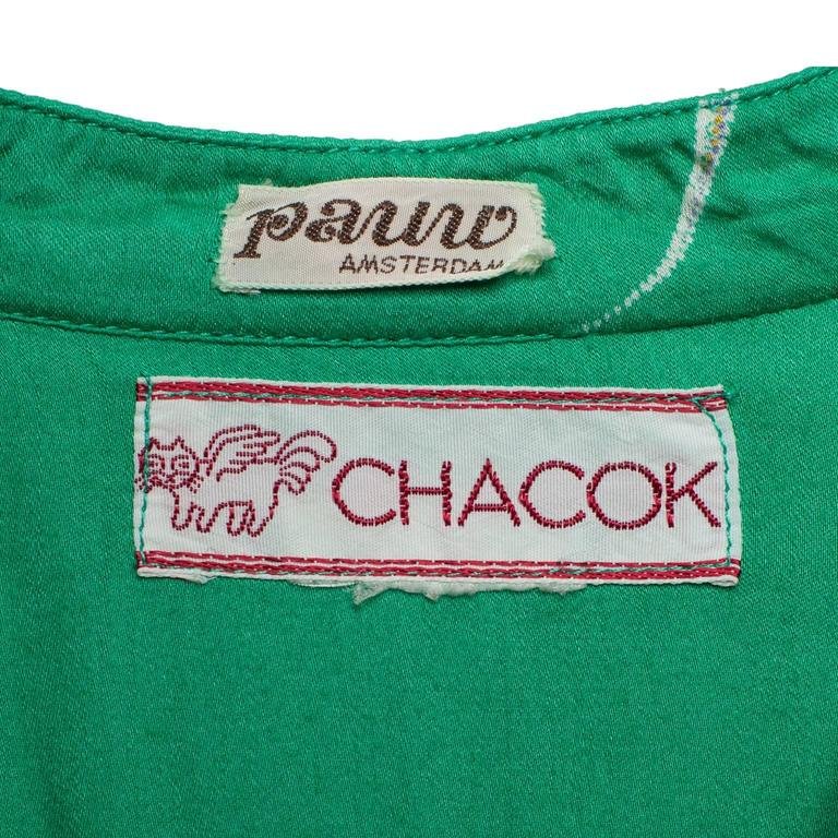 Chacok Paris Green Planet Dress 1970s 9