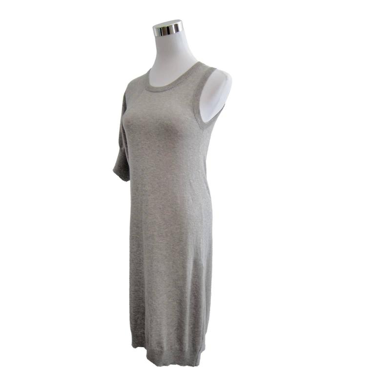 Yohji Yamamoto Light Grey Tank Dress Asymmetrical 2