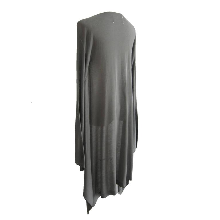 Martin Margiela Light Gray Draped Cape With Sleeves