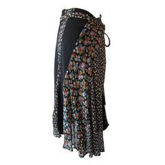 Comme des Garcons tricot Flower Diagonal Skirt AD2005