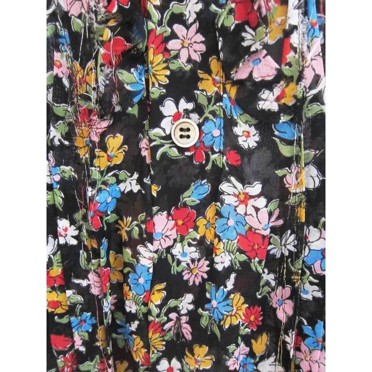 Comme des Garcons Tricot Flower Blouse AD 2005 For Sale 1