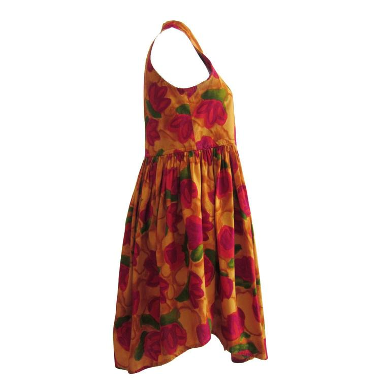Brown Romeo Gigli Flower Gilet Dress For Sale