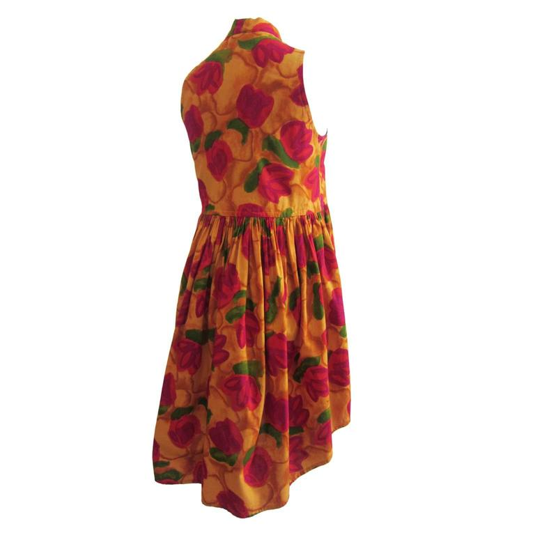 Romeo Gigli Flower Gilet Dress In Excellent Condition For Sale In Berlin, DE