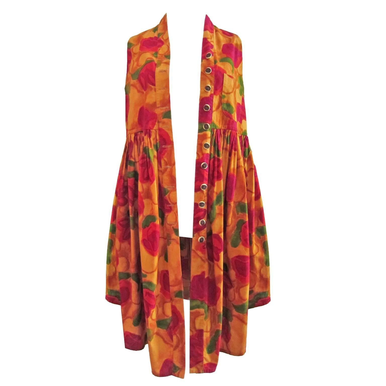 Romeo Gigli Flower Gilet Dress