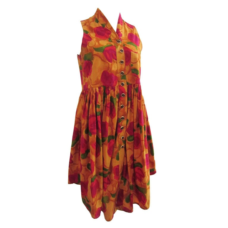 Women's Romeo Gigli Flower Gilet Dress For Sale