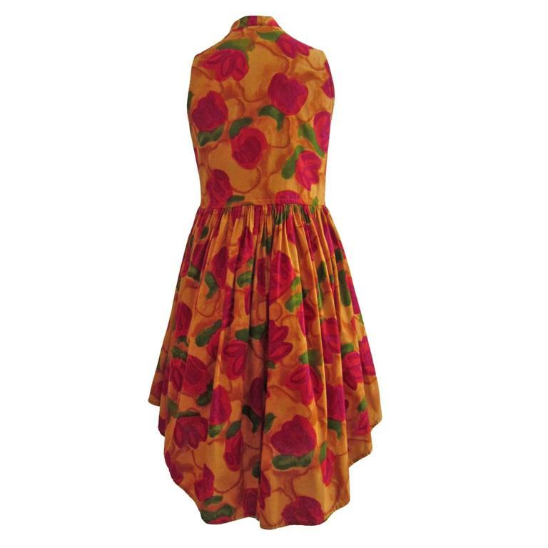 Romeo Gigli Flower Gilet Dress For Sale 1