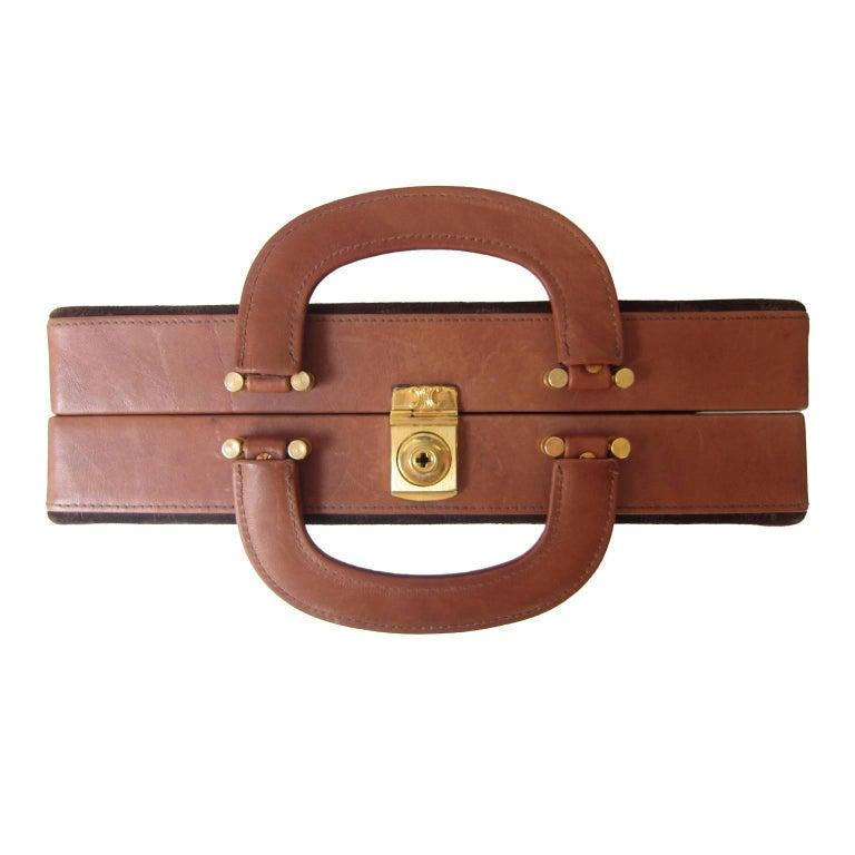 Women's or Men's Celine Mini Suitcase 1970s  For Sale
