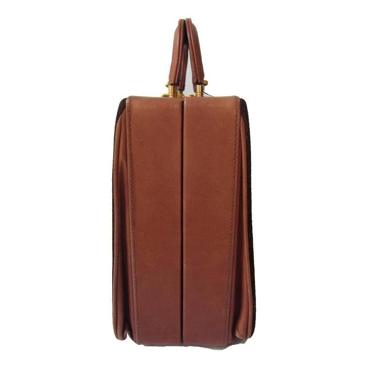 Black Celine Mini Suitcase 1970s  For Sale