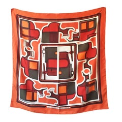 Hermes Carre Scarf Les Coups 1970s