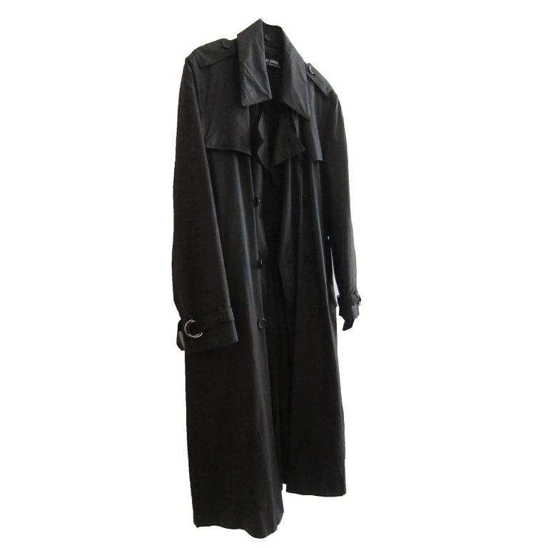 Raf Simons Military Black Trench Coat AW 2001
