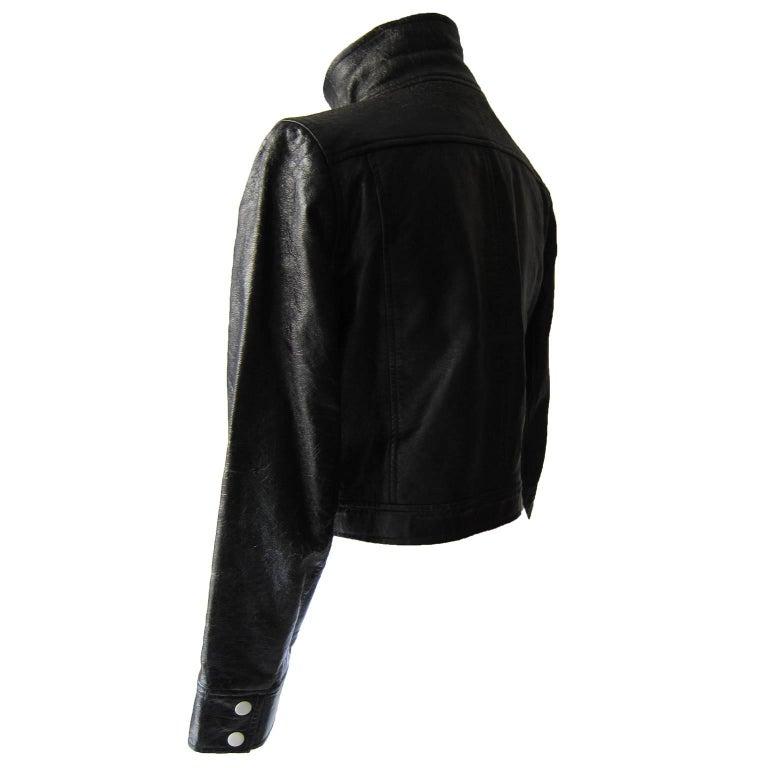 Courreges Black Vinyl Jacket  In Good Condition For Sale In Berlin, DE