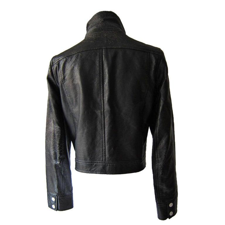 Women's Courreges Black Vinyl Jacket  For Sale