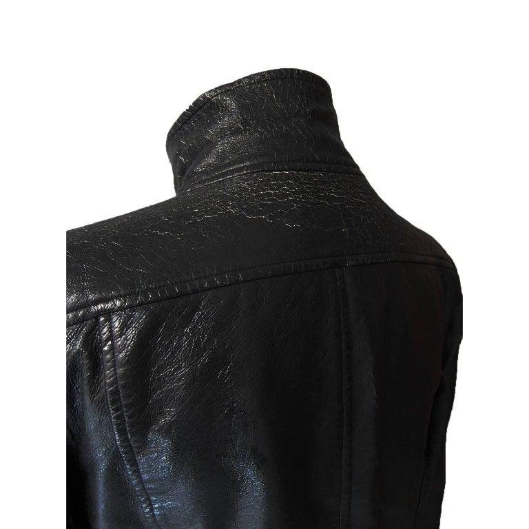 Courreges Black Vinyl Jacket  For Sale 1