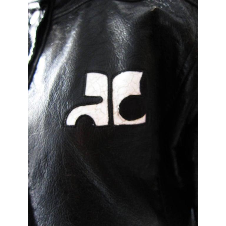 Courreges Black Vinyl Jacket  For Sale 2