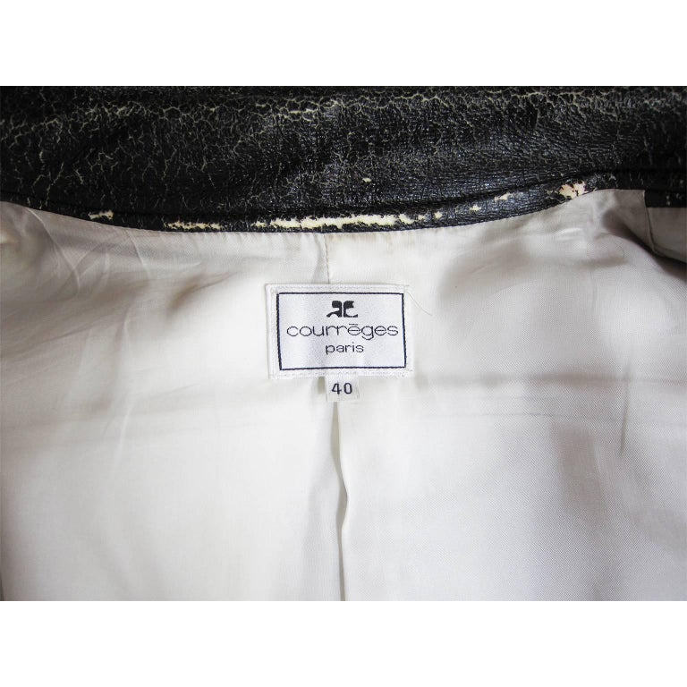 Courreges Black Vinyl Jacket  For Sale 3