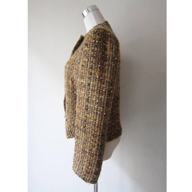 Brown Chloe by Karl Lagerfeld Tweed Jacket, 1980s For Sale
