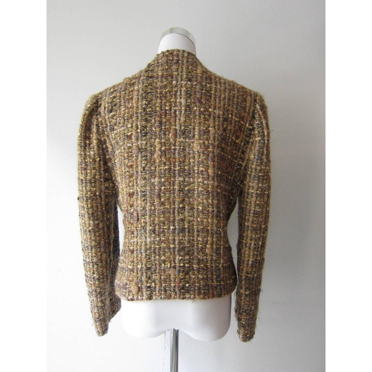Chloe by Karl Lagerfeld Tweed Jacket, 1980s In Excellent Condition For Sale In Berlin, DE