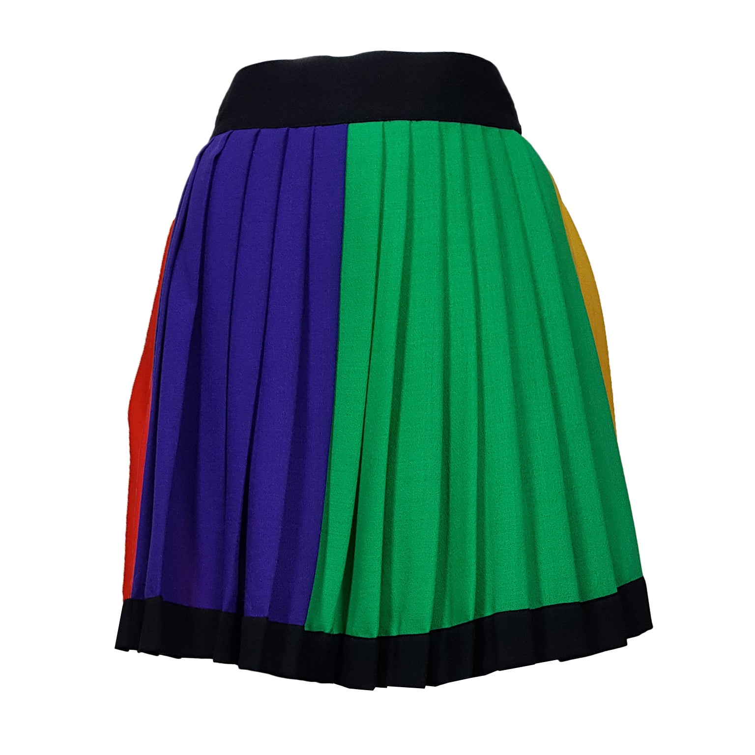 a0a39bf942 Gianni Versace Couture Colorblock Pleated Skirt AW 1991 For Sale at 1stdibs