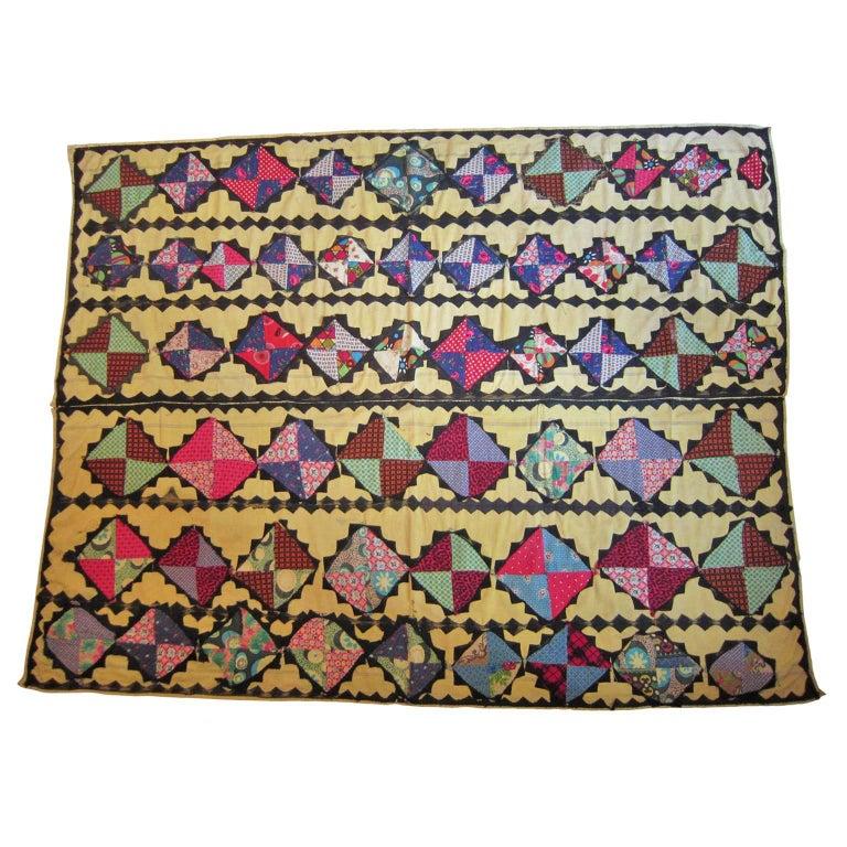 Antique Suzani Patchwork Orient Quilt Uzbekistan For Sale