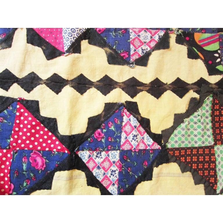 Women's or Men's Antique Suzani Patchwork Orient Quilt Uzbekistan For Sale