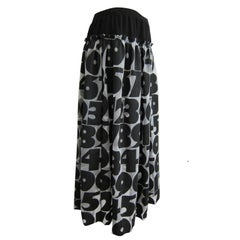 Comme des Garcons Numbers Print Skirt AD 2001