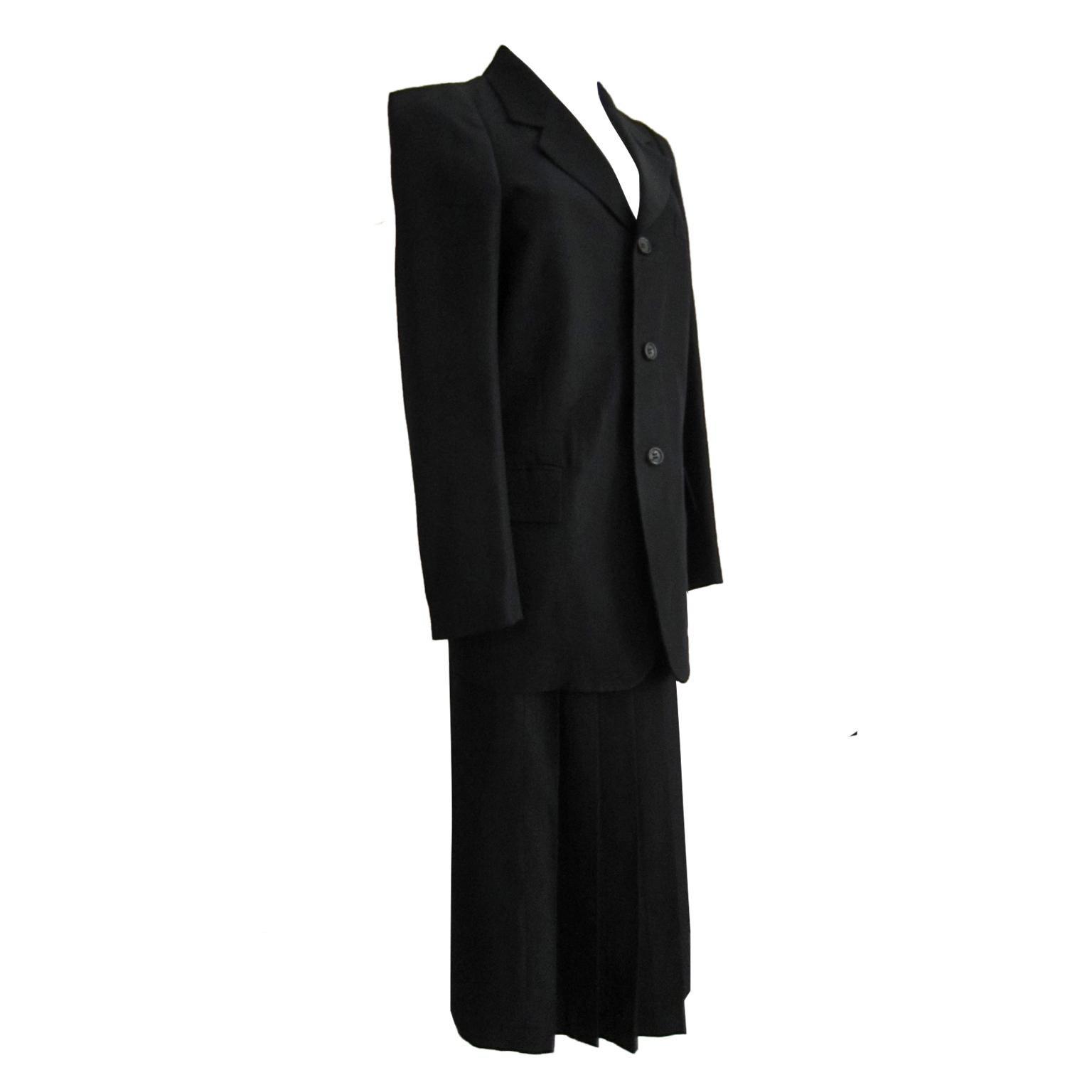 Garçons Coat Comme Raw Des Noir Edge Oversized TzvHqYv