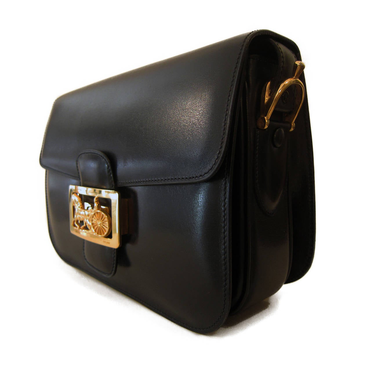 celine trio bag burgundy - celine classic vintage horse and carriage - blue