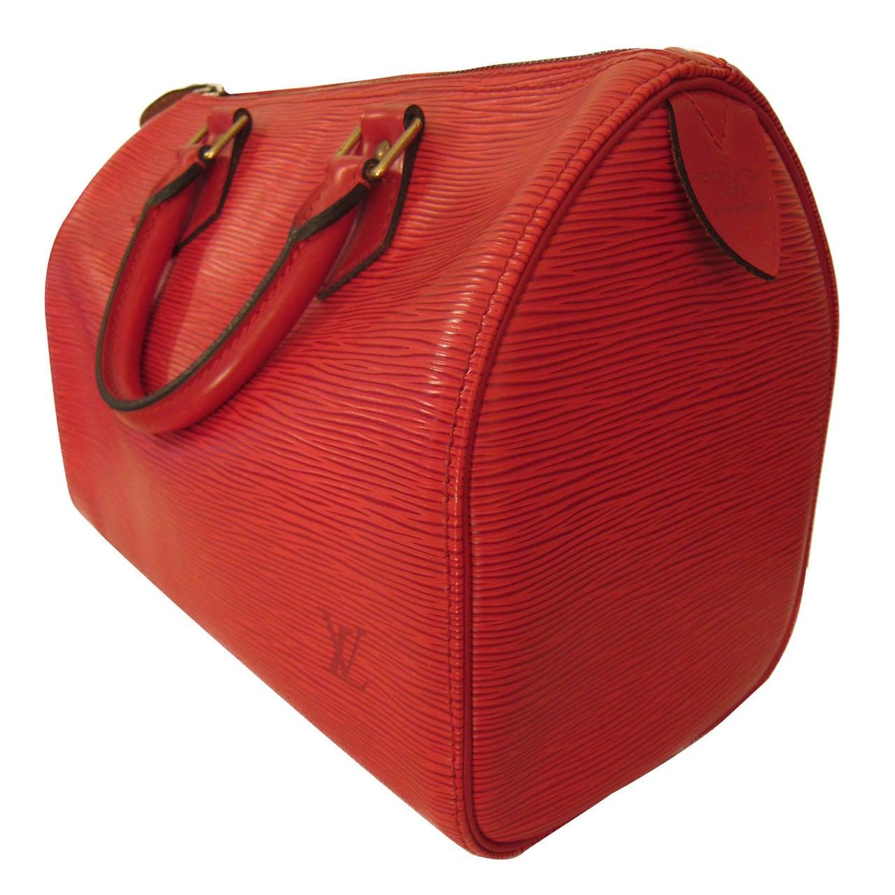 Women's Louis Vuitton Speedy 30 Epi Red For Sale