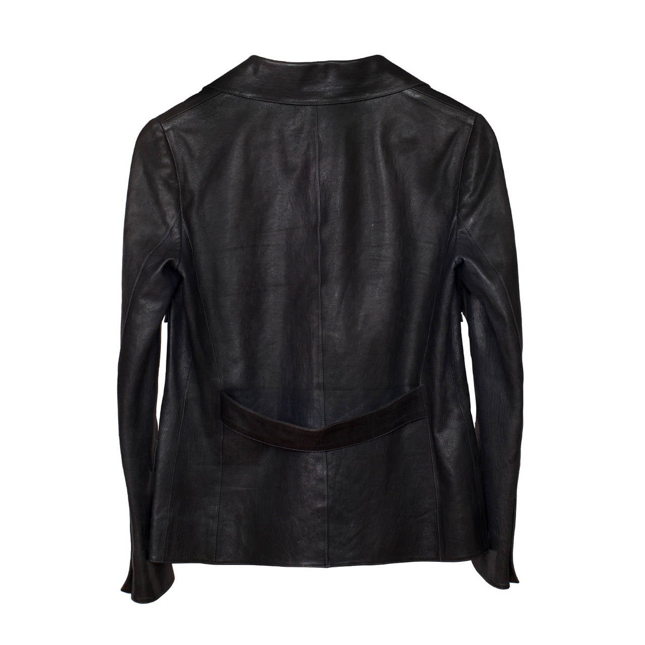 Chanel Classic Four Pockets Jacket Leather In Excellent Condition For Sale In Berlin, DE