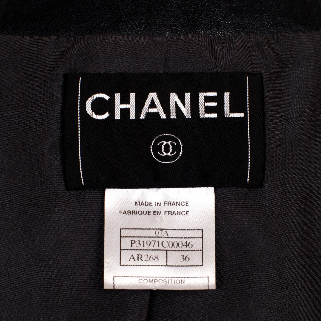 Women's Chanel Classic Four Pockets Jacket Leather For Sale