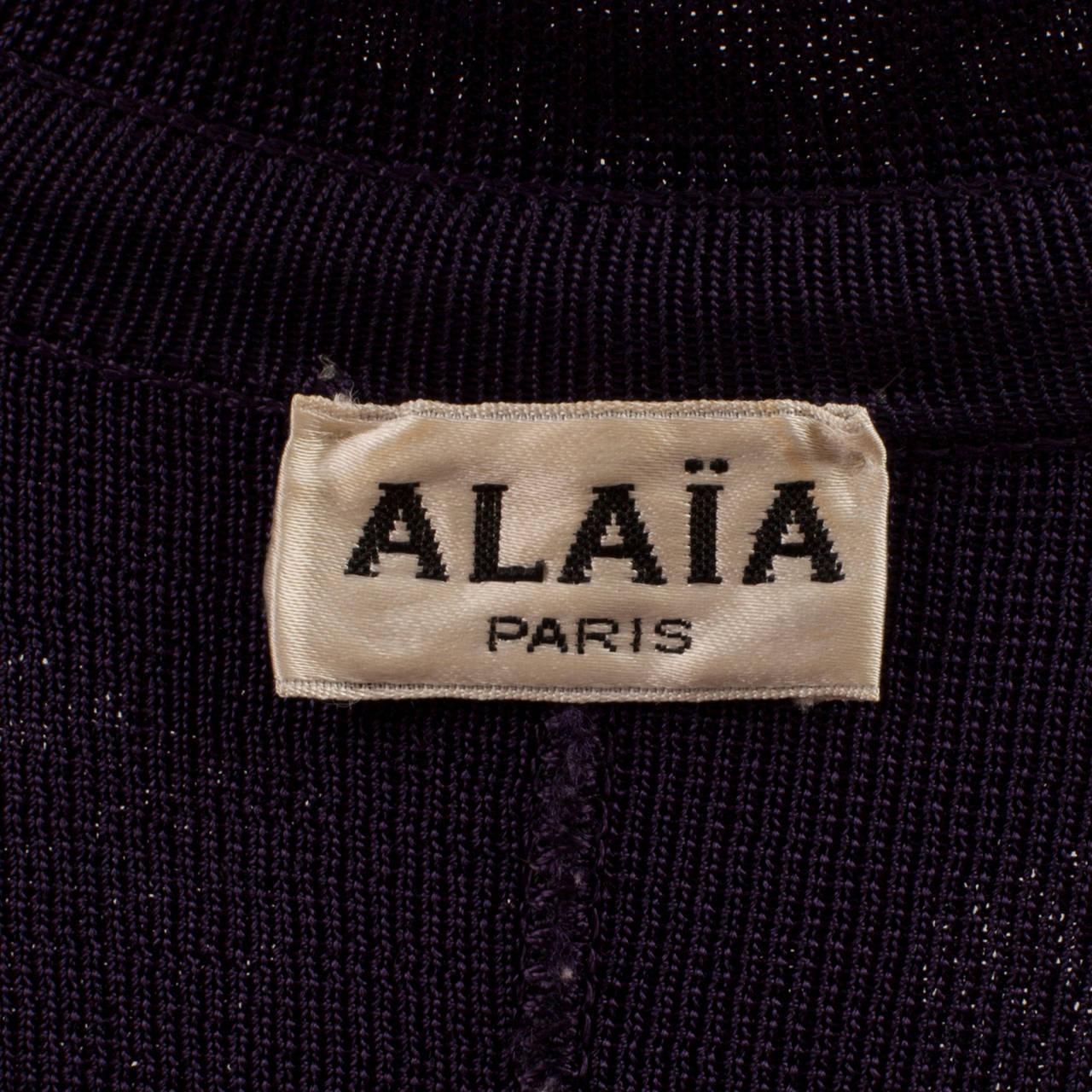 Women's Alaia Aubergine Cardigan 1980's For Sale