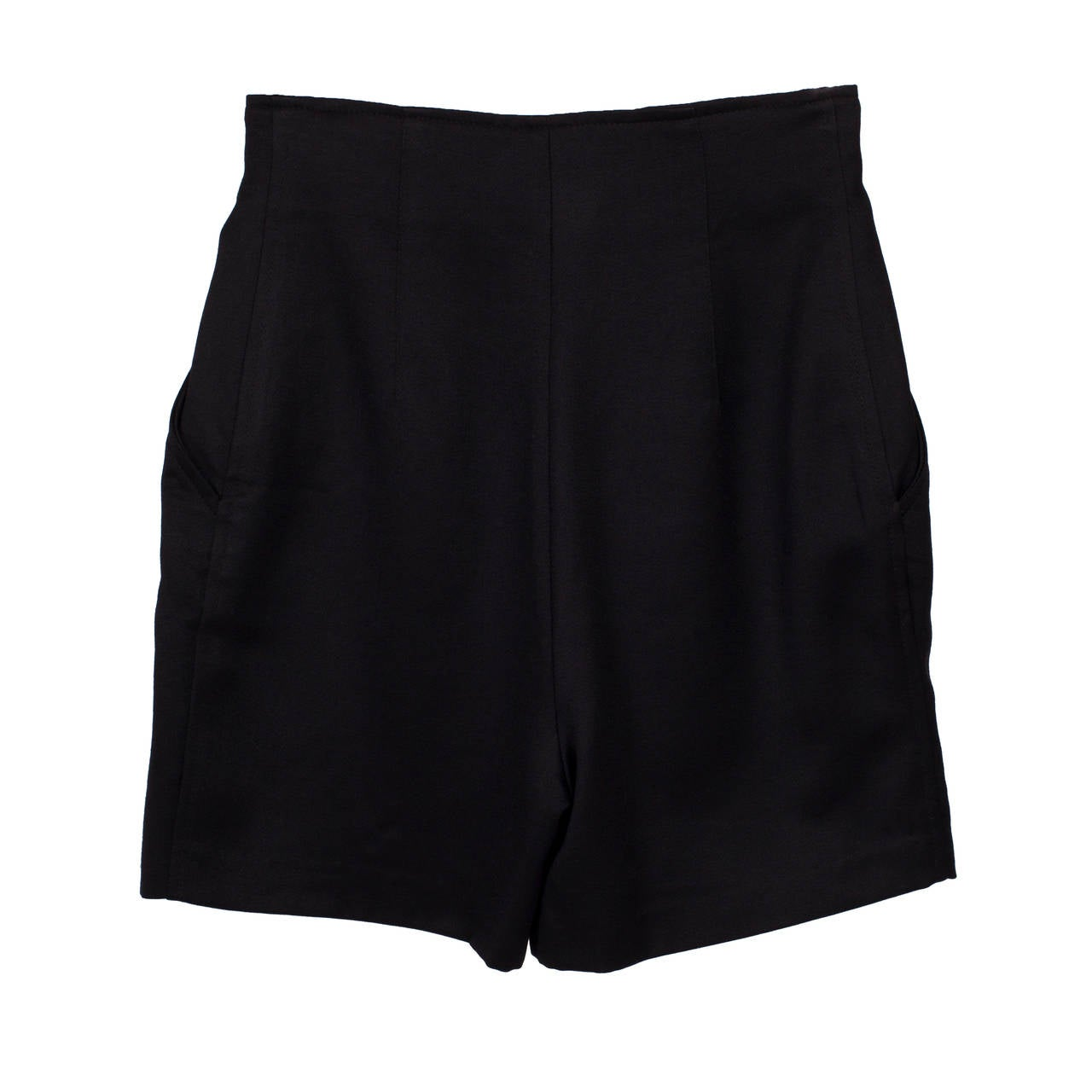 Women's Versus Gianni Versace Black Marine High Waisted Shorts For Sale