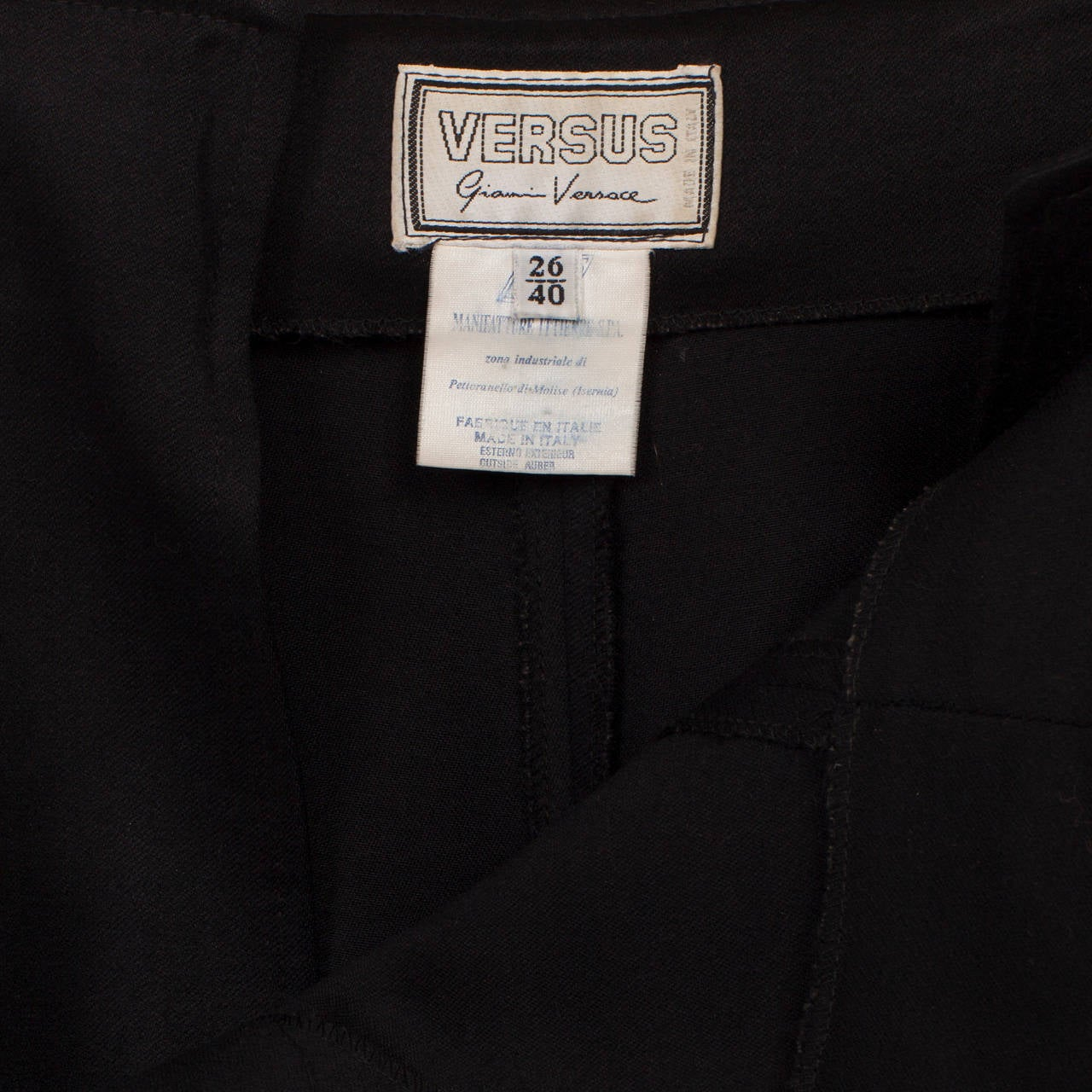 Versus Gianni Versace Black Marine High Waisted Shorts For Sale 1