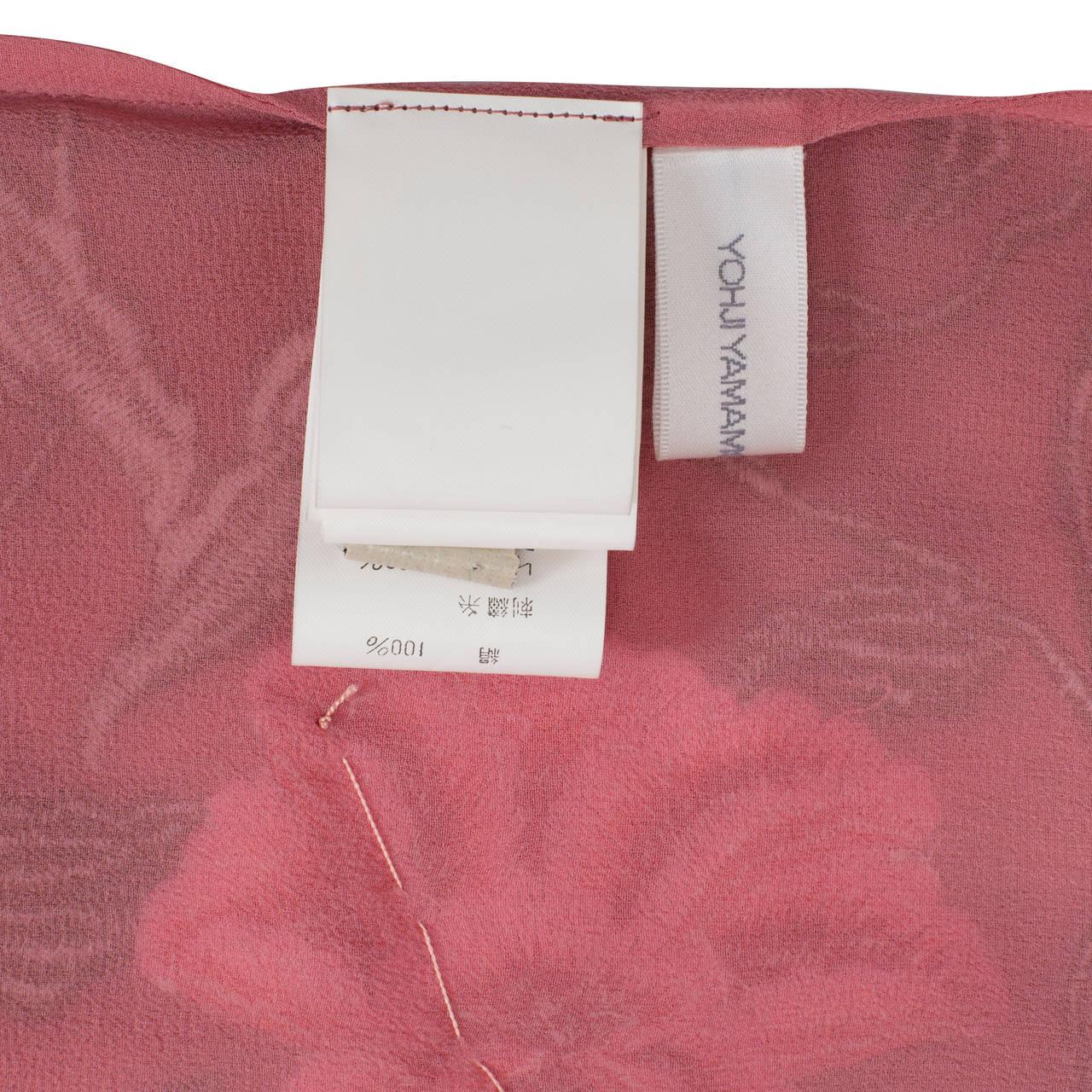 Yohji Yamamoto + Noir Pink Skirt Flower Embroidery For Sale 6