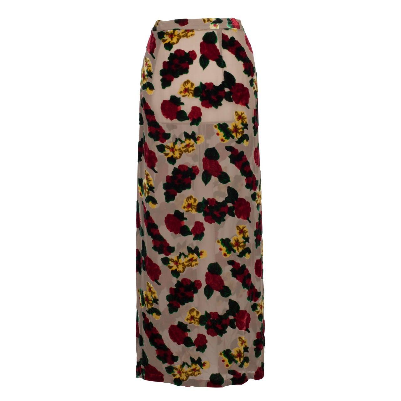 Yohji Yamamoto Sheer Skirt 1997 For Sale