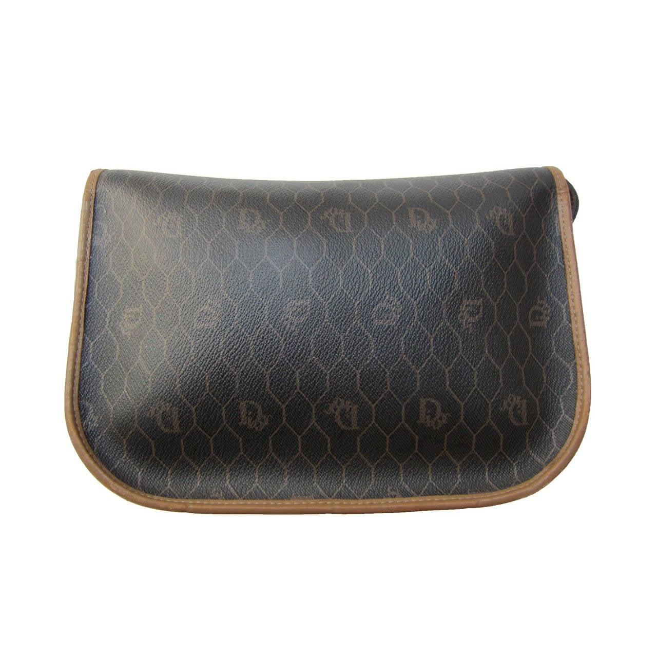 Women's Christian Dior Logo Shoulder Bag 1980s For Sale
