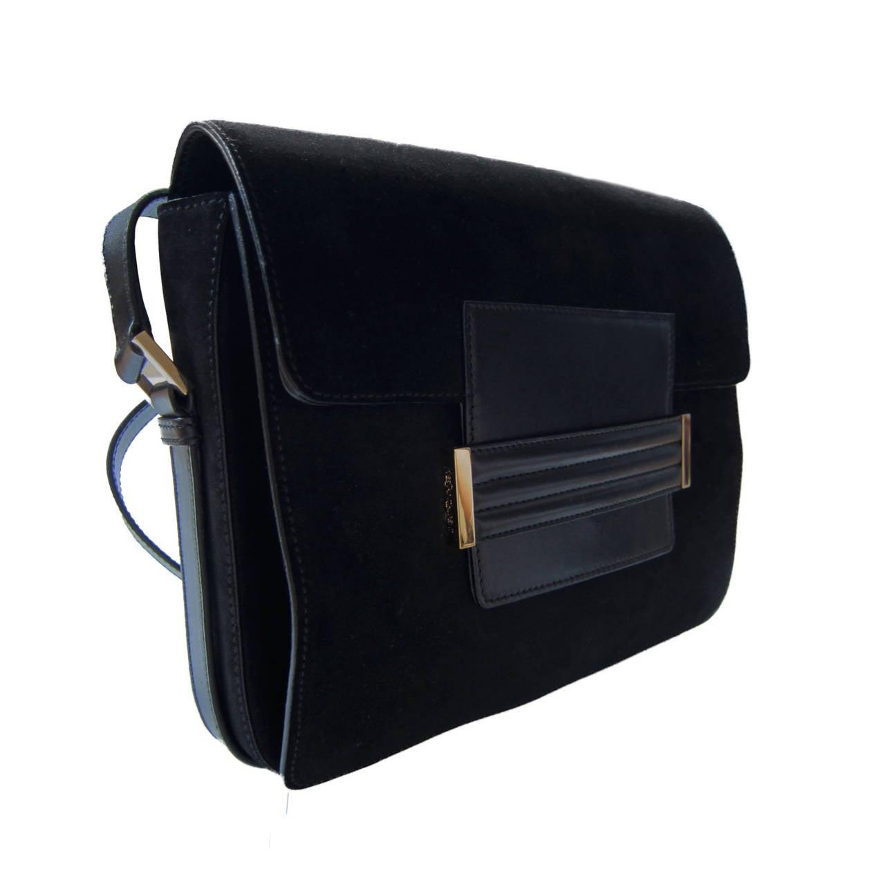 Yves Saint Laurent Tom Ford Black Suede Bag at 1stdibs