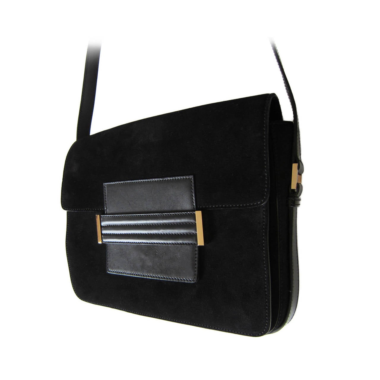 Yves Saint Laurent Tom Ford Black Suede Bag at 1stdibs