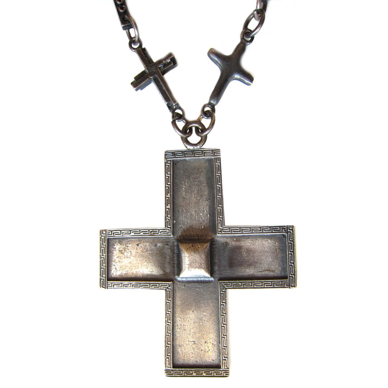 Gianni Versace Massive Cross Necklace 1990's 2