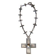 Gianni Versace Massive Cross Necklace 1990's