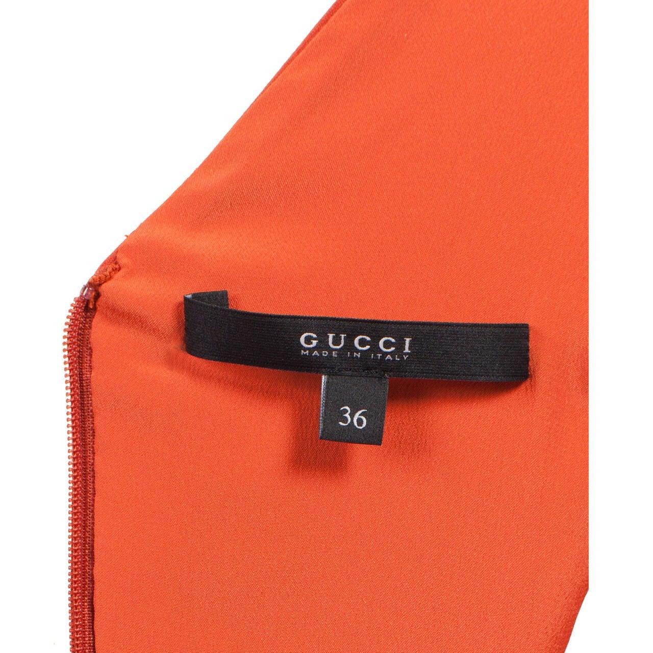 Red Gucci Orange Purple Colour Block Dress S/S 2011 For Sale
