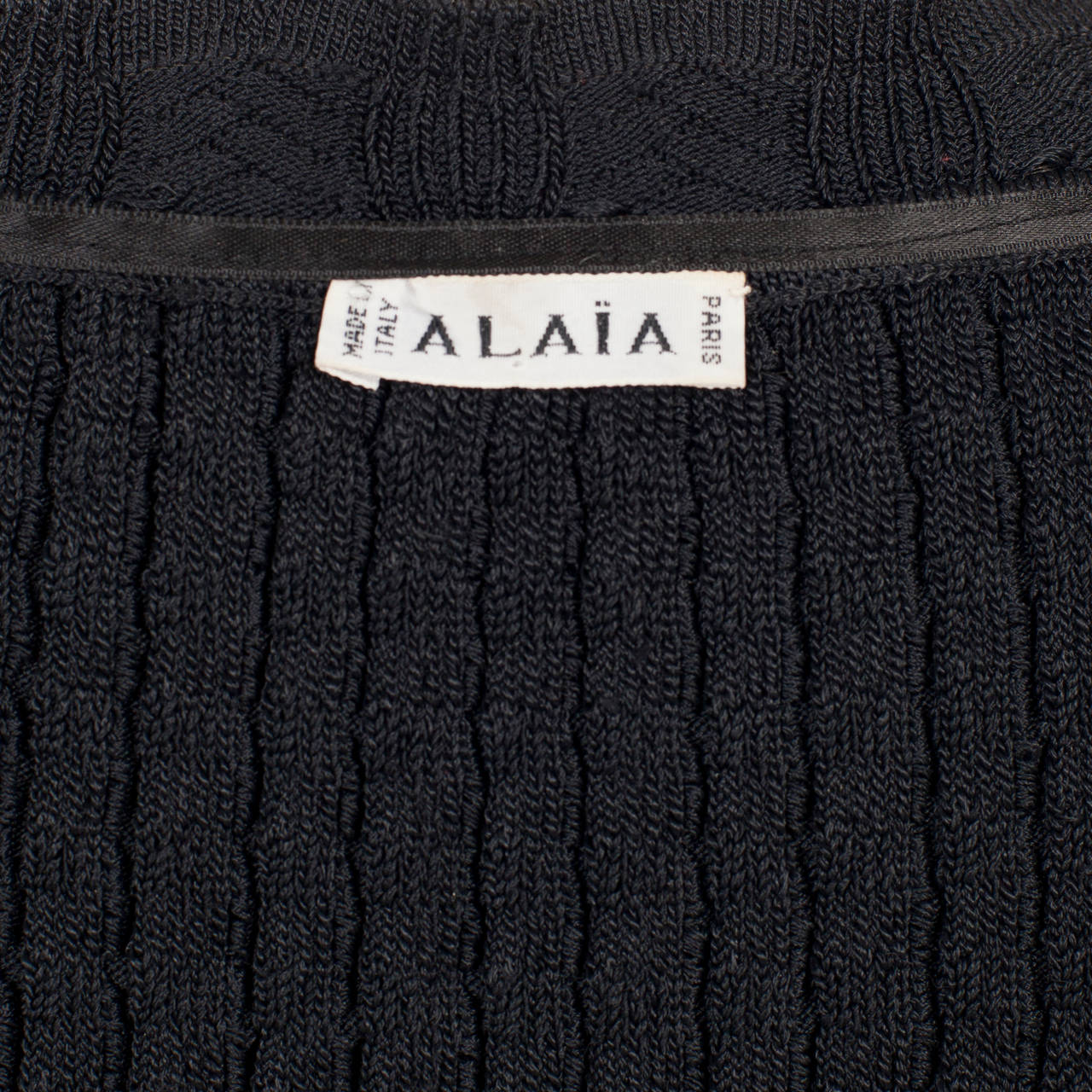 Alaia Black Knit Top Dress 1992 6