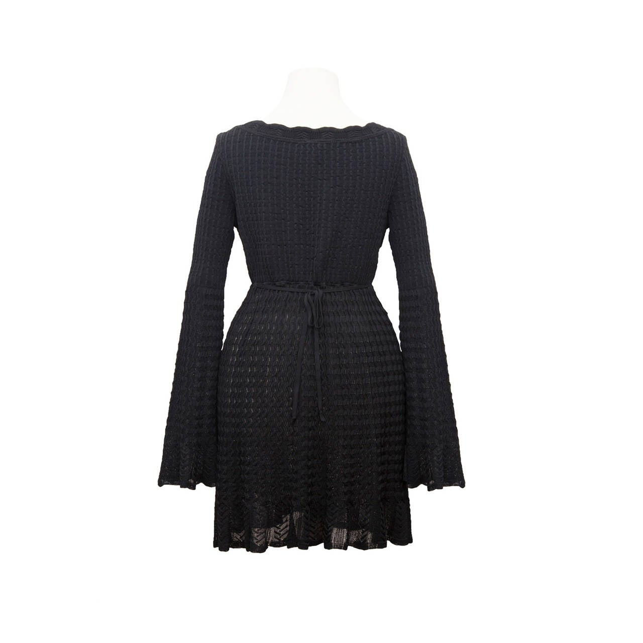 Alaia Black Knit Top Dress 1992 2