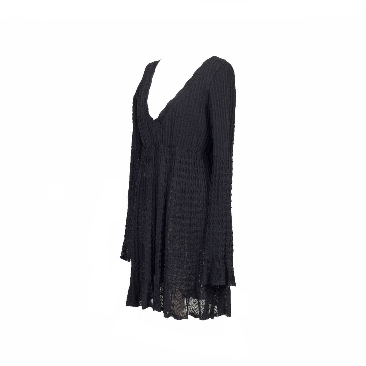 Alaia Black Knit Top Dress 1992 3